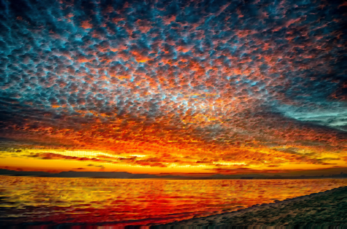 small resolution of sky sunset landscape painting cloud dawn