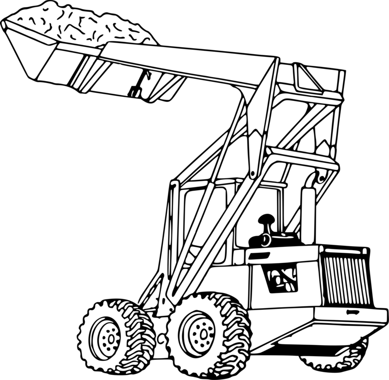 John Deere Tractor Loader Coloring book Heavy Machinery