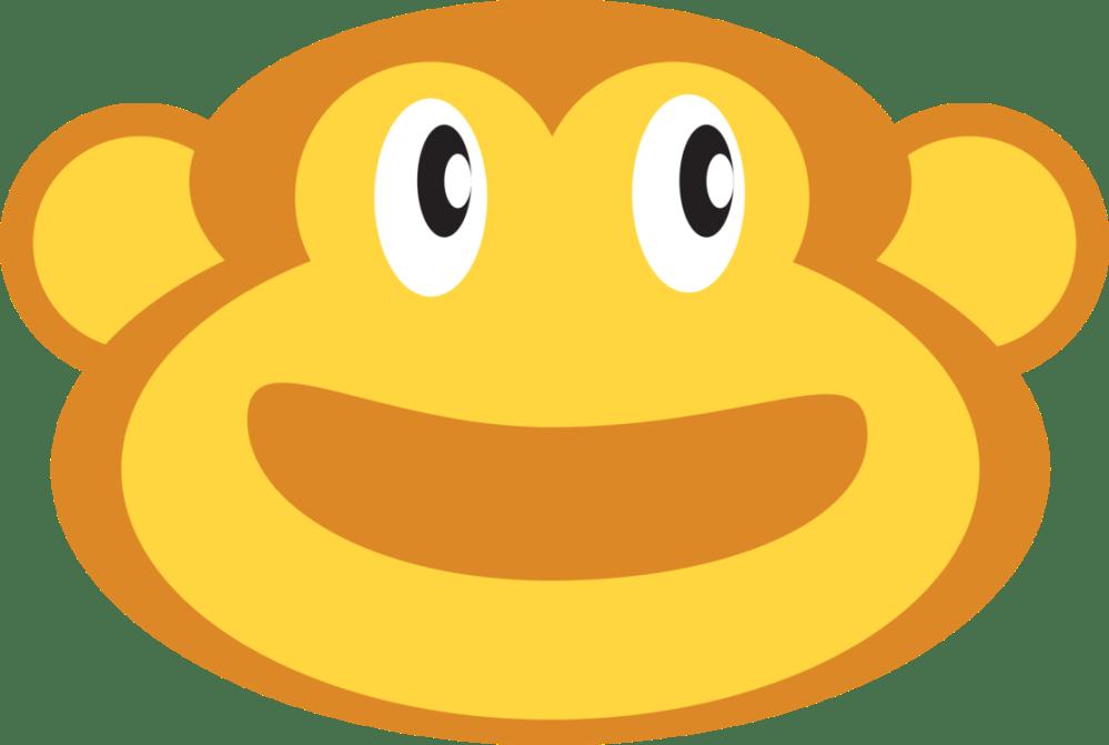 medium resolution of smiley emoticon monkey face