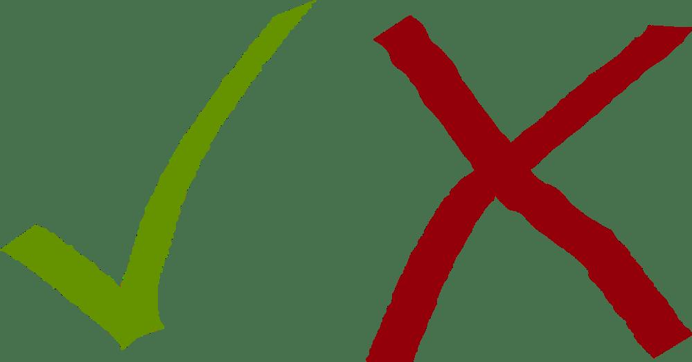 medium resolution of check mark computer icons cross symbol x mark