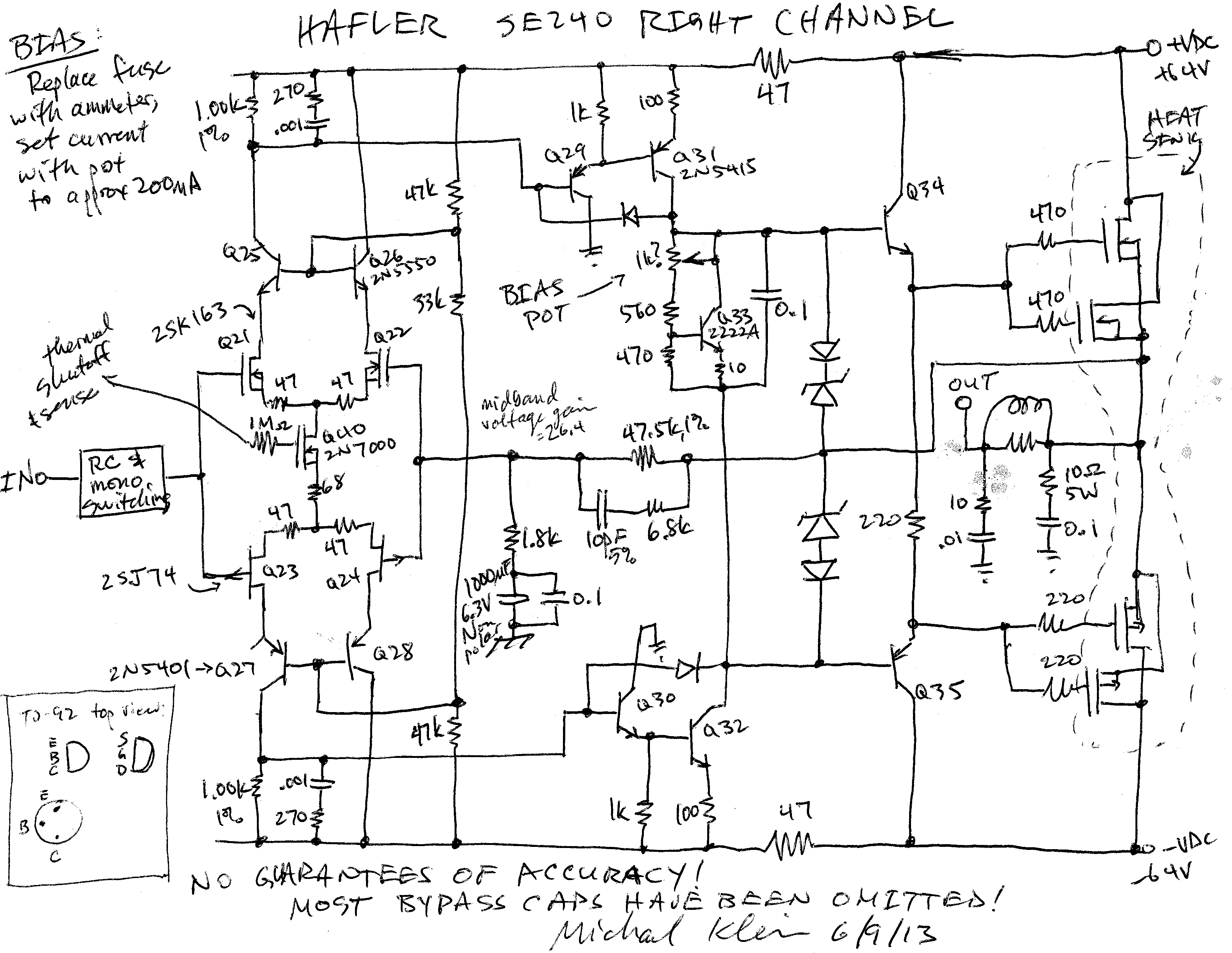 Amplifier Schematic Diagram