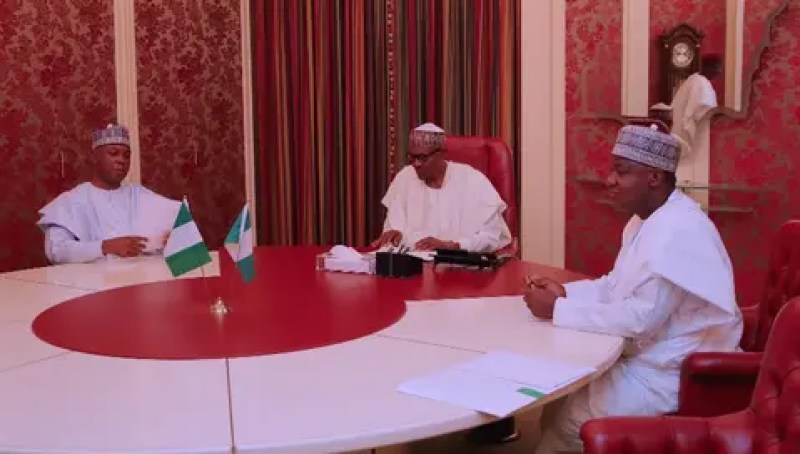 Image result for Breaking: President Buhari receives senate panel on Saraki-IGP row