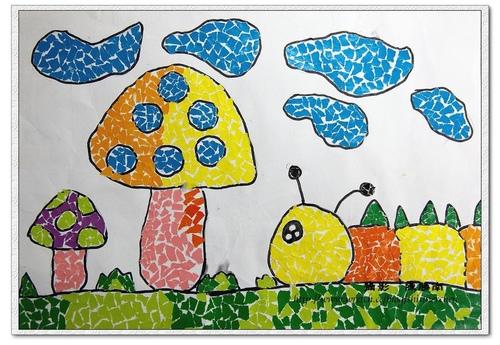 (98學年度)學生作品1--撕貼畫 @ 南哥的咖啡時間 :: 隨意窩 Xuite日誌