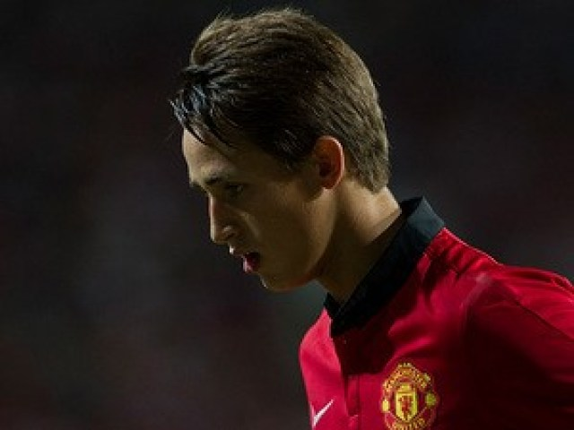 Manchester United's Adnan Januzaj in action during a friendly match against Kitchee FC on July 29, 2013