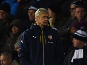 Arsene Wenger Manager of Arsenal looks on during the Barclays Premier League match between West Bromwich Albion and Arsenal at The Hawthorns on November 21, 2015