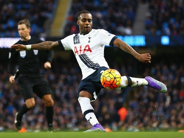 Danny Rose in action during the Premier League match between Manchester City and Tottenham Hotspur at the Etihad Stadium on February 14, 2016