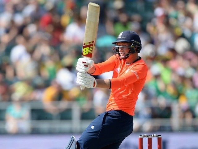 Joe Root in action during the second T20 between South Africa and England on February 20, 2016