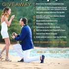 Win a marriage proposal in paradise (ring, tropical hotel, Visa gift card, and more $8,000 ARV) {WW} (07/31/2017)