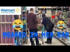 Sneaking Up On Strangers - SCARING PEOPLE OF WALMART! - Moaning