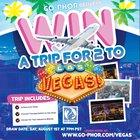 Win two free plane tickets to Las Vegas {US} (08/01/2019)