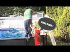Throwing my step dad in the pool prank (gone wrong) he chased me out the house !