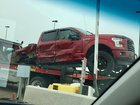 Not my truck, but was on the back of a flatbed at work the other. Nasty wreck, hope everyone was okay.