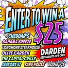 $25 Darden Restaurants Gift Card - 9/5 {US}