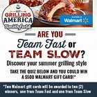 Smithfield Get Grilling Sweepstakes ~ Win 1 of 2 $500 Walmart gift cards, or 1 of 50 $50 Walmart gift cards {US} (9/2/2019)