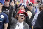 MAGA Protesters Chant 'Destroy the GOP' at Pro-Trump Rally