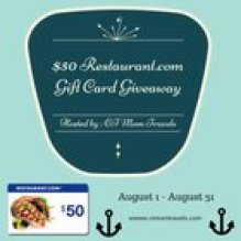 $50 Restaurant Gift Card Giveaway (8/31/15)
