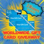 1 of 3 Visa Gift Cards or Paypal - valued at $100, $50, and $25 {ww} {01/31/2018}