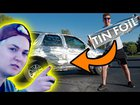 Driving a Car Wrapped in Tin Foil Prank [Reactions]
