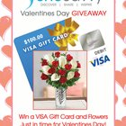 $100 Visa Gift Card and a Valentine's Day bouquet! (2/9/2016)