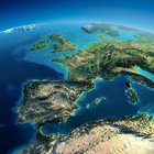 Raised-Relief Map of Western Europe (With a touch of North Africa)