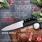 "Enter to win two full-tang, German steel 8"" Chef's knives 🔪 {CA} (12/23/2018)"