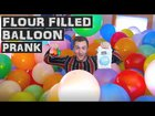 EPIC ROOMMATE PRANK (flour filled balloons)