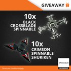 20 Fidget Spinner Giveaway: 10 x Black Crossblade, 10 x Crimson Shuriken (06/08/2017) {WW}