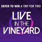 Win a trip of a lifetime! Live at the Vineyard~San Francisco (ends 10/14/2018){US}