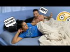 I don't want to cuddle with you prank on boyfriend cute reaction