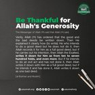 Be Thankful for Allah's Mercy and Generosity