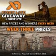 Win over $1,800 in First Lite Apparel, New Winner Every Week!