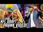 Pretending to get drafted at the NFL Draft