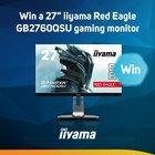 """Scan Weekly Competition: iiyama Red Eagle GB2760QSU 27"""" 2560x1440 144Hz Monitor worth £389.99 {WW} (08/27/2017)"""