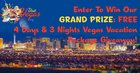 Win a Trip to Vegas! Includes 3 Nights Hotel, Airline Voucher, 2 showtickets & a round of golf for 2! {US} (06/30)