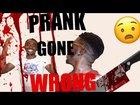 Scare prank got bloody