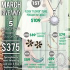 Cate & Chloe Blooming in March Giveaway - Win $375 in FREE prizes!