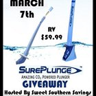 SurePlunge Amazing CO2 Powered Plunger Giveaway {US} (3/7/2018)