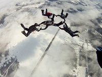 Winter Skydiving in Estonia