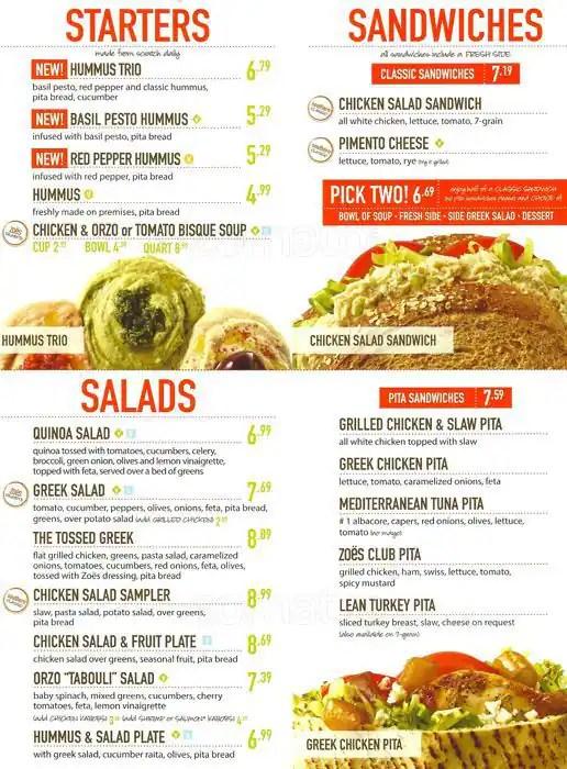 Zoes Kitchen Menu Calories  Wow Blog