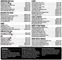 Brewhouse and Kitchen Menu, Menu for Brewhouse and Kitchen ...