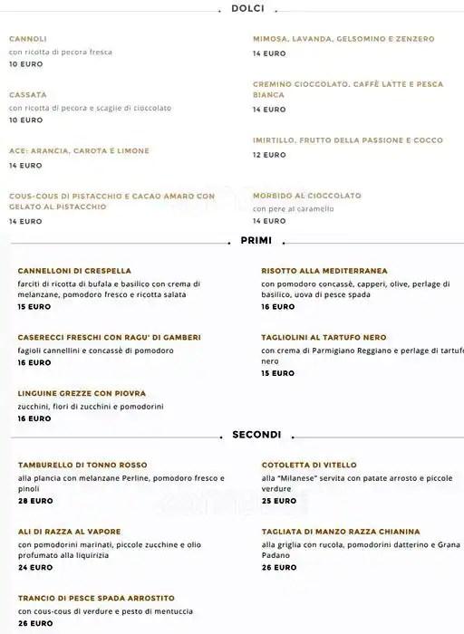 Bar Martini  DolceGabbana a Milano Foto del Menu con