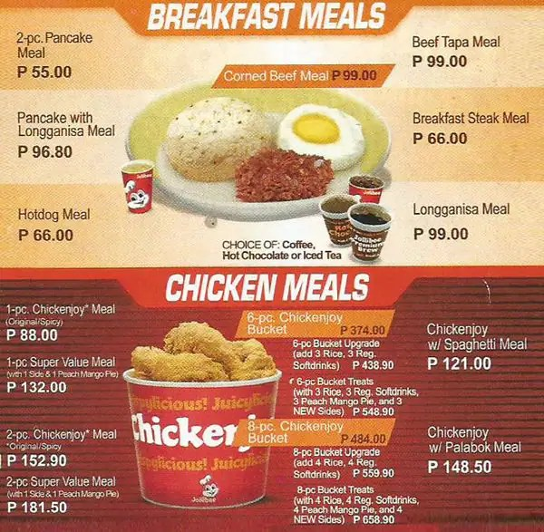 Updated Jollibee Bucket Philippines Meal