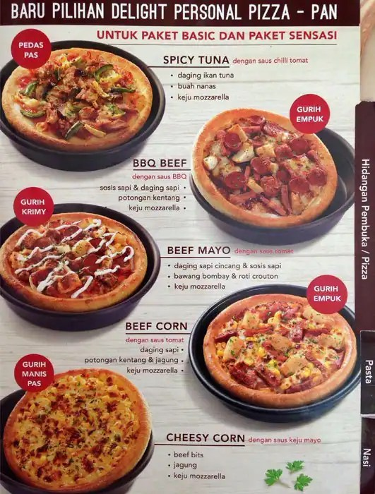 Sensasi Delight Pizza Hut : sensasi, delight, pizza, Pizza, Harga