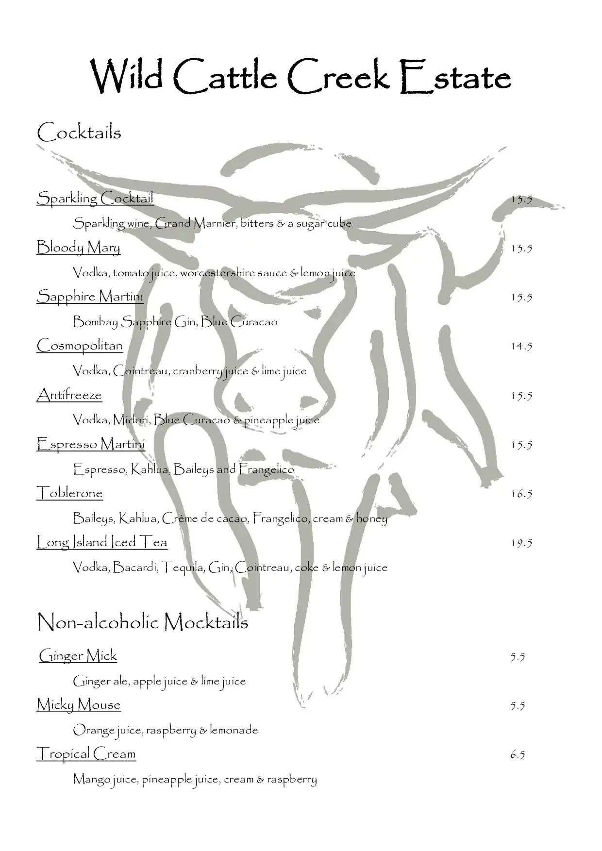hight resolution of wild cattle creek estate menu