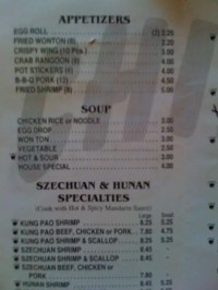 Chinese Kitchen Menu, Menu for Chinese Kitchen, Highland ...