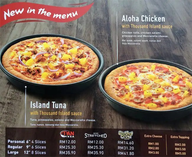 Pizza Hut Nutrition Malaysia – Besto Blog