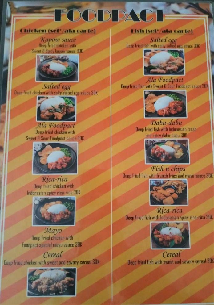 Menu At Foodpact Cafe North Jakarta Jl Janur Elok Ii No 12