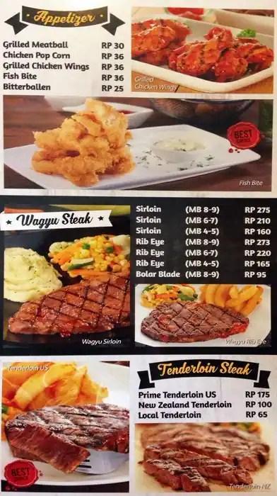 Harga Abuba Steak : harga, abuba, steak, Abuba, Steak, Menu,, Steak,, Green, Ville,, Jakarta