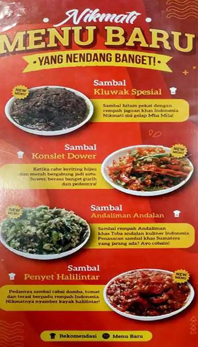 Menu Sambal Karmila : sambal, karmila, Sambal, Karmila, Menu,, Karmila,, Tebet,, Jakarta