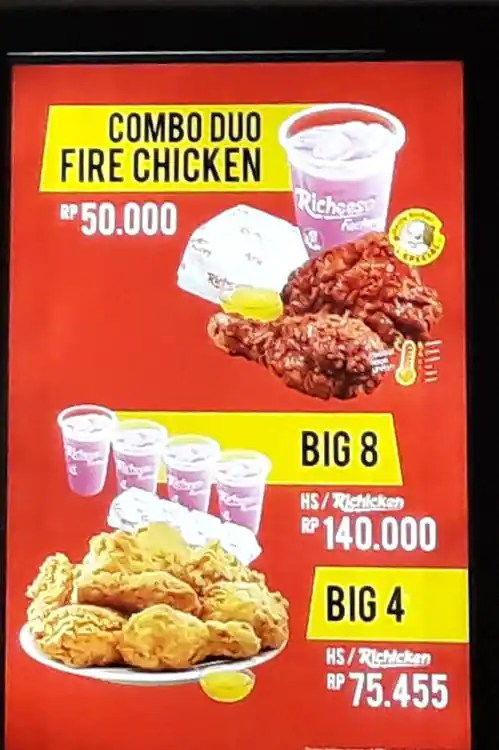 Chicken Hs Richeese : chicken, richeese, Richeese, Factory, Menu,, Factory,, Dago,, Bandung